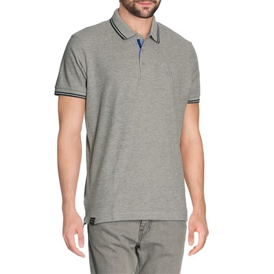 Best Mountain polo manches courtes - gris chine