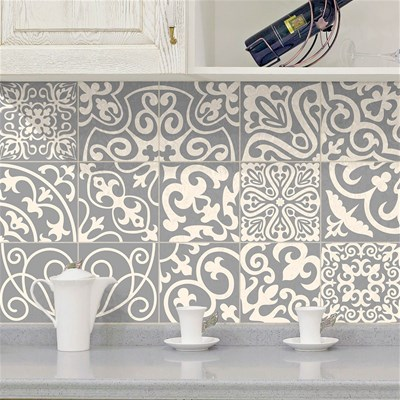 Ambiance Live palaos - 15 stickers carrelages azulejos - multicolore