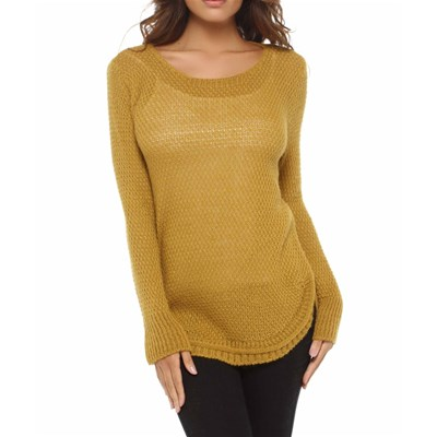 Emma Lou esther - pull 30% laine - moutarde