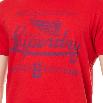 SUPERDRY T-shirt manches courtes - rouge