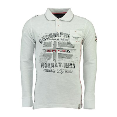Geographical Norway Polo manches longues - blanc