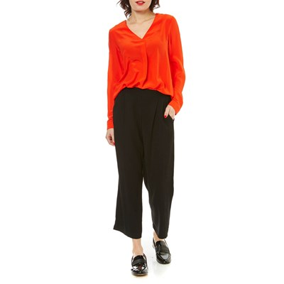 Caroll Avril - blouse en soie - orange