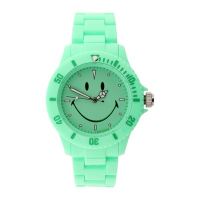 Smiley Montre analogique - turquoise