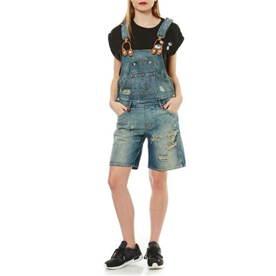 Meltin Pot PEPITA - Salopette short - denim bleu