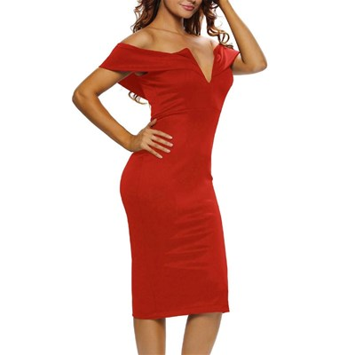 Chic Dresses robe cocktail - rouge
