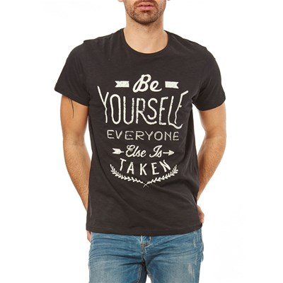 Best Mountain be yourself - t-shirt manches courtes - noir