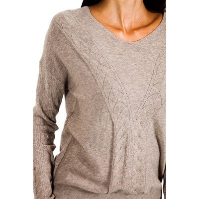 MAILLE ET CACHEMIRE Pull 8% cachemire - taupe