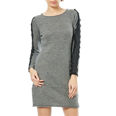 Maille Love Robe Pull 15% laine, 10% cachemire, 10% angora - gris clair