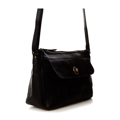 PIECES Borsa in pelle - nero