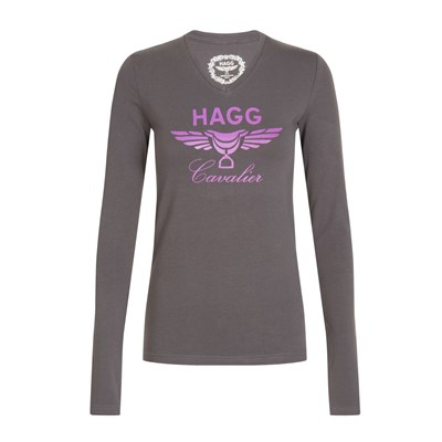 Hagg T-shirt manches longues - anthracite