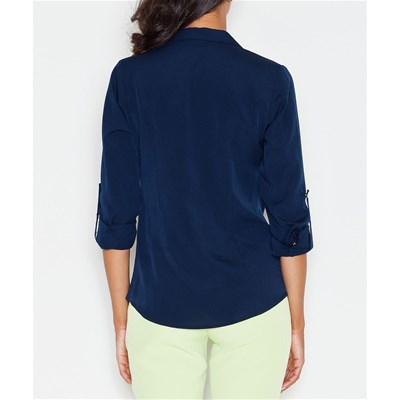 Longues Marine Favorite Manches Bleu Chemise Top My HIRPvqw