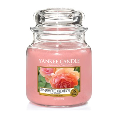 YANKEE CANDLE Rose succulente - Moyenne Jarre - rose