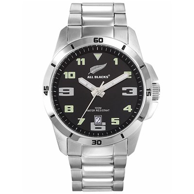 All Blacks montre avec bracelet en métal - gris