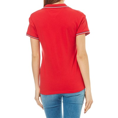 TOMMY JEANS Polo manches courtes - rouge