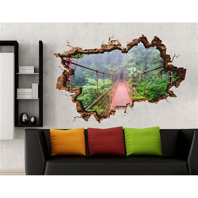 3d Art sticker mural 3d - multicolore