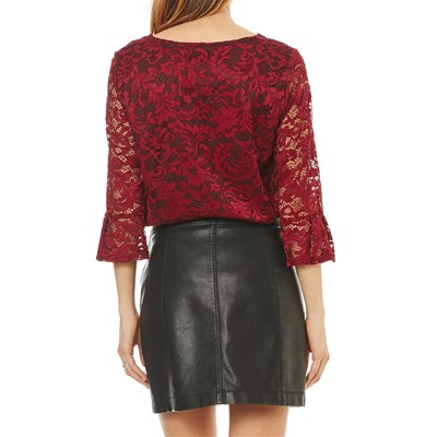 Top Bordeaux Pizzo Double Jeu In pXAPPU
