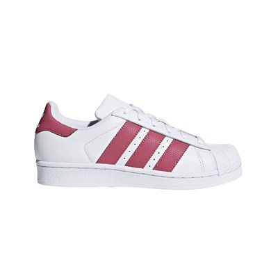 Adidas Originals superstar j - baskets en cuir - blanc