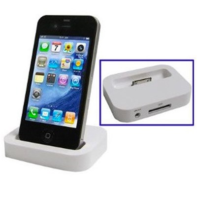 Qube Support de recharge iphone 4/4s - blanc