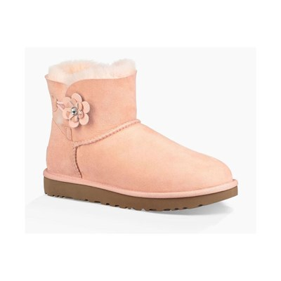 zapatillas Ugg Mini bailey button Boots melocot?n