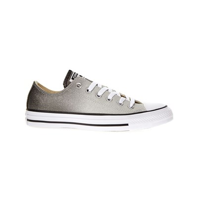 CONVERSE Chuck Taylor All Star Tipped Ombre Metallic Ox - Baskets - argent