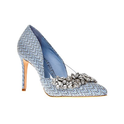 zapatillas COSMOPARIS Adia/Tweed Escarpins azul