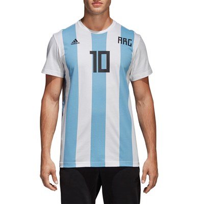 Adidas Performance messi argentine - t-shirt manches courtes - blanc