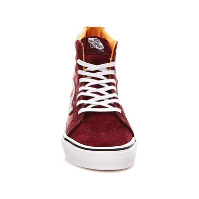 VANS UA SK8-Hi Slim Zip - Baskets en cuir - bordeaux