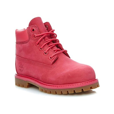 zapatillas Timberland 6 IN PREMIUM WP BOOT ROSE RED Botines de cuero frambuesa