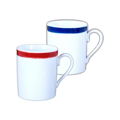 Site Corot artwork - 2 mugs en porcelaine de limoges - multicolore