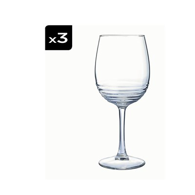 Luminarc Harena - lot de 3 verres à pied 36cl - transparent