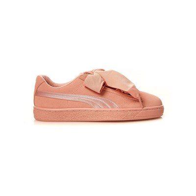 PUMA Heart Suede - Baskets en cuir - rose