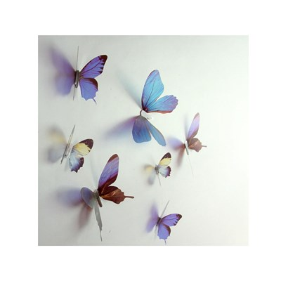 Ceramik Sticker papillons 3d chics - sticker - bleu