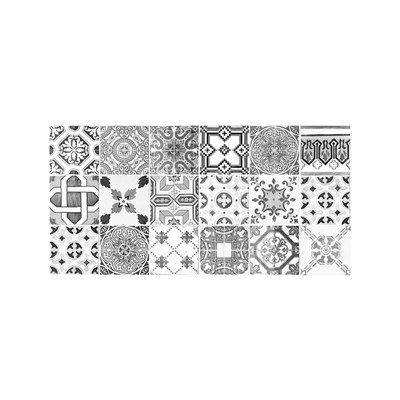 floorart patchwork tapis de cuisine gris brandalley. Black Bedroom Furniture Sets. Home Design Ideas
