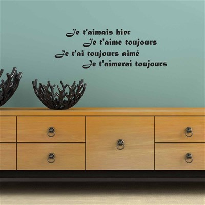 French Wall sticker en vinyle - noir