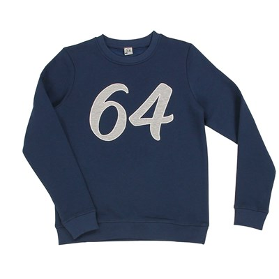 64 Essentiels patch curve - sweat-shirt - bleu