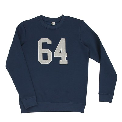 64 Essentiels double patch - sweat-shirt - bleu