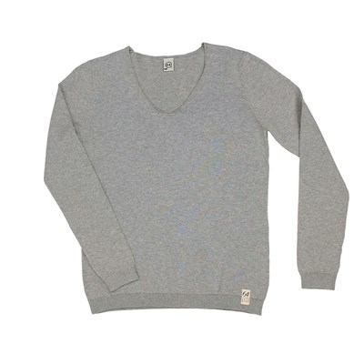 64 Essentiels classic label - pull - gris chine