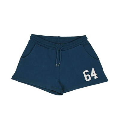 64 Double patch - short - bleu