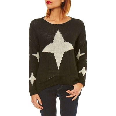 Noir Love Love Maille Pull Pull Maille Maille Noir Pull Love Maille Noir fqx60Z6Y