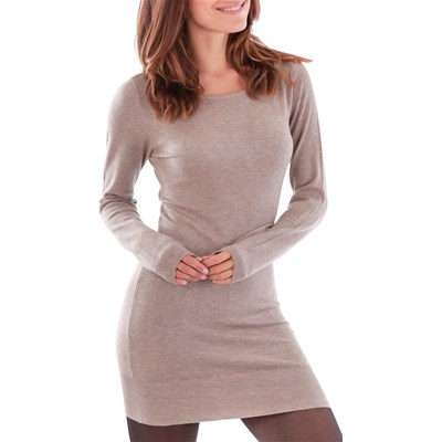 fashion mode Robe pull - taupe