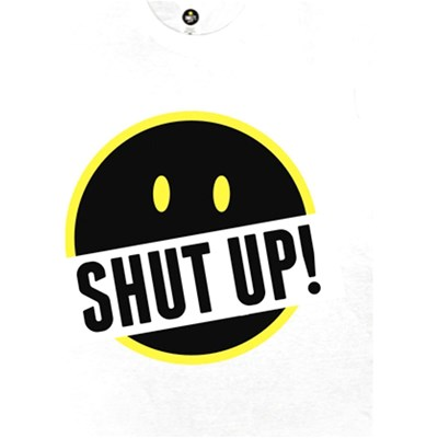 SMILEY Shut Up And Smile - T-shirt manches courtes - blanc