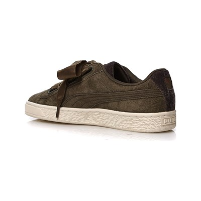 PUMA Heart - Baskets en cuir - olive