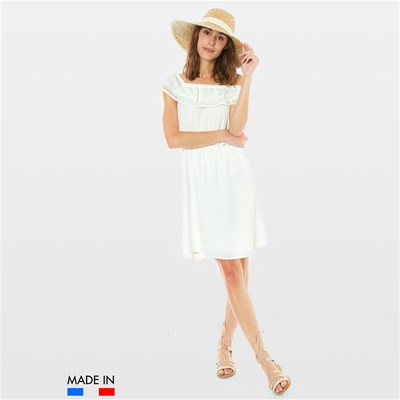 BRANDALLEY LA COLLECTION Ella - Robe fluide - blanc