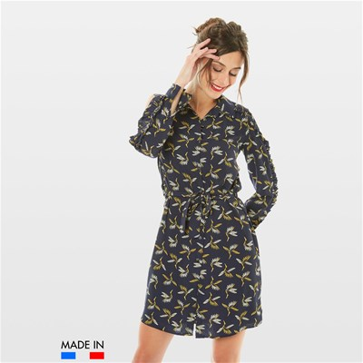 BrandAlley La Collection Flora - Robe fluide - bleu marine