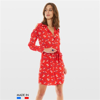 BrandAlley La Collection Flora - Robe fluide - rouge