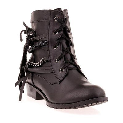 DTK Bottines en cuir - noir