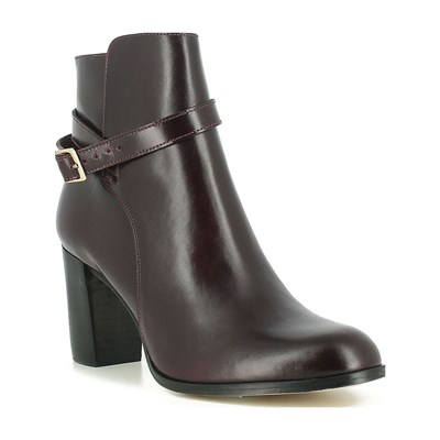 JONAK Bottines en cuir - bordeaux