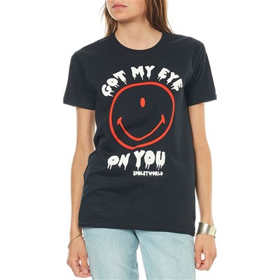 Smiley Got my eye on you - t-shirt manches courtes - noir