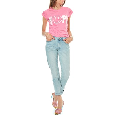Rose Courtes Manches Smiley shirt Hope T FnSw7vX