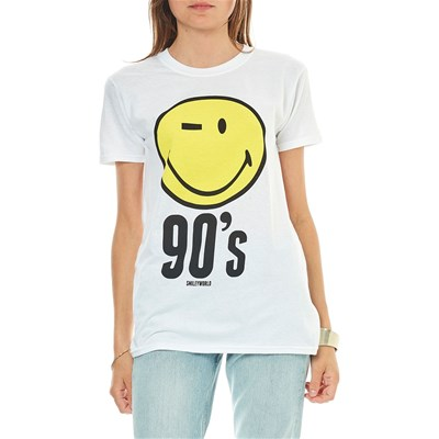 Smiley 90's - t-shirt manches courtes - blanc